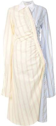 VIVETTA gathered contrast print dress
