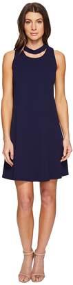 Christin Michaels Harlyn Sleeveless Dress with Neckline Detail Women's Dress