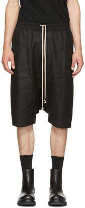 Rick Owens Black Canvas Ricks Pods Shorts