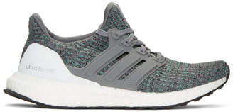 adidas Grey and Blue UltraBOOST Sneakers