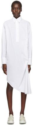 MM6 MAISON MARGIELA White Collared Shirt Dress
