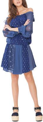 Hale Bob Silk-Trim Dress