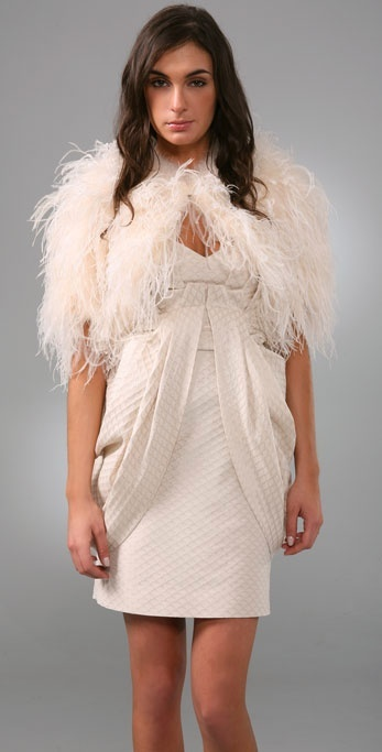 Temperley London Feathered Cape