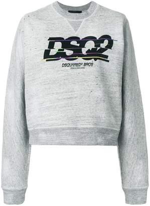 DSQUARED2 spliced logo print sweatshirt