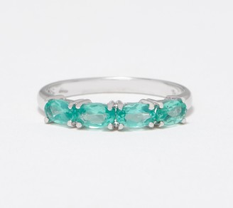 Sterling Silver Colors of Apatite Band Ring, Sterling Silver