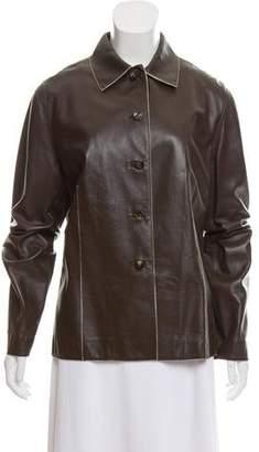 Loro Piana Leather Lightweight Jacket