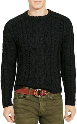 Polo Ralph Lauren Cable Knit Merino Wool Sweater $498 thestylecure.com