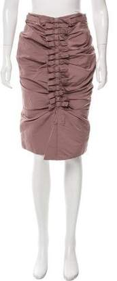 Nina Ricci Ruched Bow-Accented Skirt w/ Tags