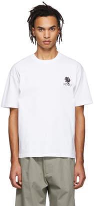 Kenzo White Rose Crest Skate T-Shirt