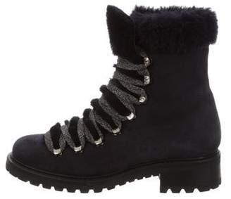 Barneys New York Barney's New York Garnet Shearling Ankle Boots