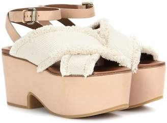 See by Chloe Canvas and leather platform sandals