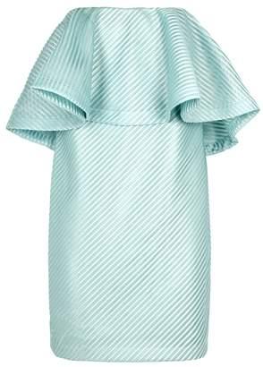 Halston Duck Egg Blue Strapless Dress