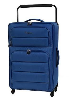 it Luggage World s Lightest 4-wheel Blue Suitcase - Medium c593eab708