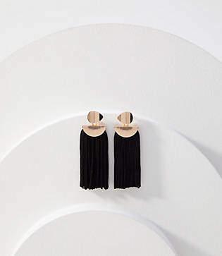 LOFT Geometric Tassel Earrings