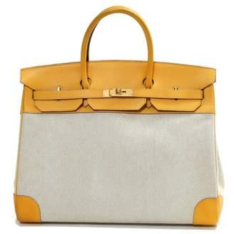 fe7fd46081 Hermes Vintage Birkin Voyage Yellow Cloth Travel Bag