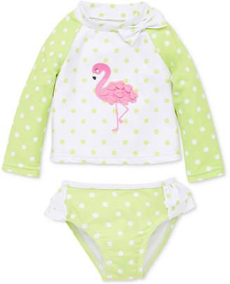 Little Me Flamingo Baby Girls 2-Pc. Rashguard