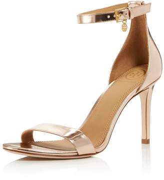 e25f35666ecc Tory Burch Women s Ellie Leather High-Heel Ankle Strap Sandals