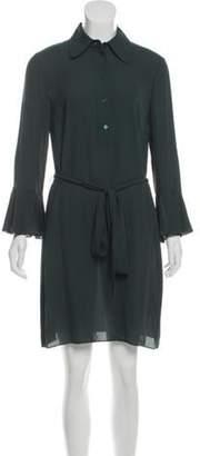 Michael Kors Silk Bell Sleeve Dress w/ Tags green Silk Bell Sleeve Dress w/ Tags