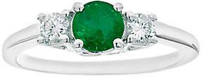 Premier Round Emerald & 1/5cttw Diamond Ring, 1