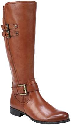 Naturalizer Low Heel Leather Riding Boots - Jessie Wide