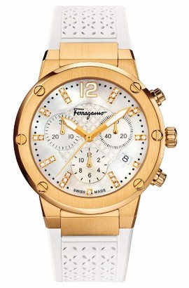 Women's Salvatore Ferragamo F80 Chronograph Rubber Strap Watch, 39Mm $2,495 thestylecure.com
