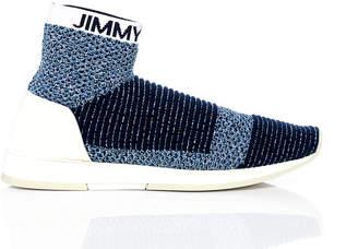 Jimmy Choo JAY Navy Mix High Top Sock Trainer