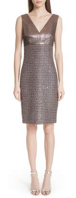 St. John Twisted Sequin Knit Dress