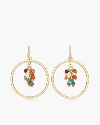 Multi-Colored Cluster Hoop Earrings