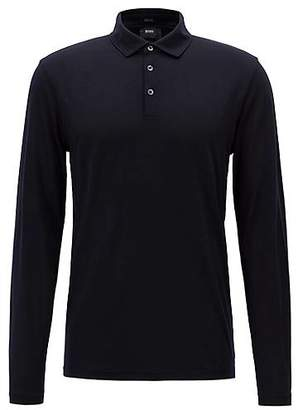 HUGO BOSS Travel Line polo shirt in Italian virgin wool