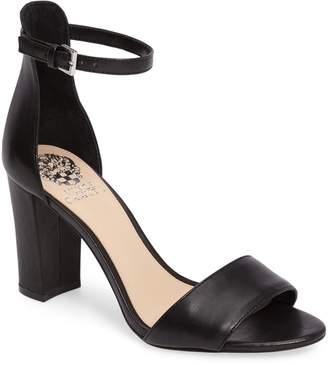 1019e3968560 Vince Camuto Black Ankle Strap Women s Sandals - ShopStyle