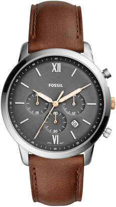 Fossil Men's Neutra Chronograph Light Brown Leather Strap Watch 44mm