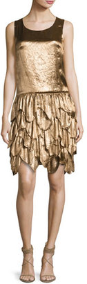 Ralph Lauren Collection Dara Tiered Sleeveless Dress, Bronze $3,490 thestylecure.com