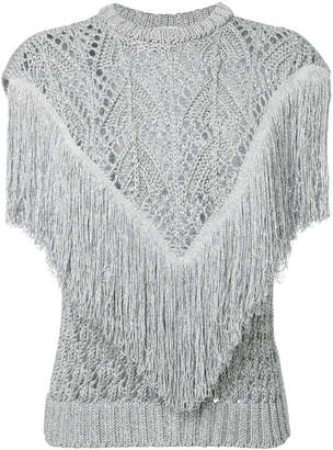 Circus Hotel fringed knitted top