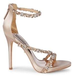 7cbec4416 Badgley Mischka Quest Crystal Embellished Sandals