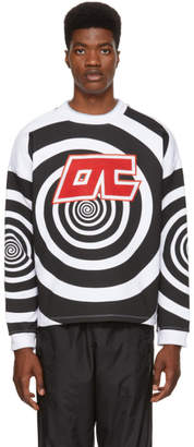 Opening Ceremony Black and White Graphic Cozy Sweatshirt