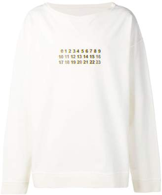 Maison Margiela number print sweatshirt
