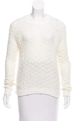 Theyskens' Theory Textured Open-Knit Sweater