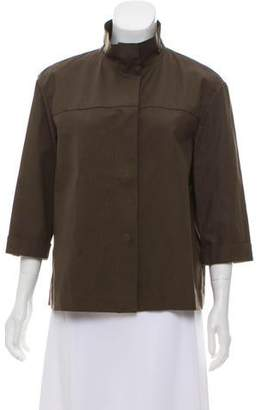 Lafayette 148 Short Sleeve Button-Up Jacket