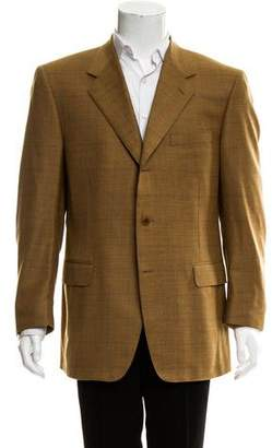 Canali Windowpane Wool-Blend Blazer