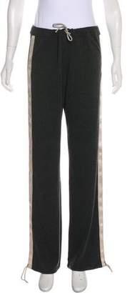 Chanel Logo-Trimmed High-Rise Sweatpants