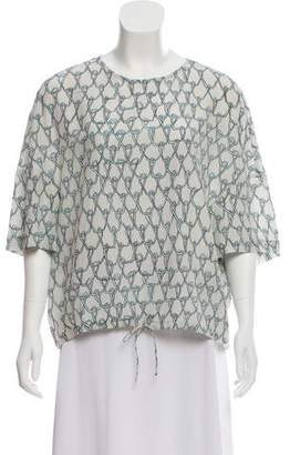 Christian Wijnants Printed Silk Top