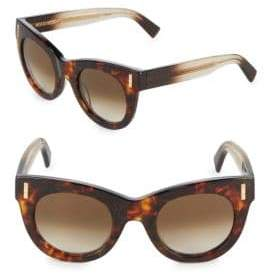 Boucheron 48MM Glitter Cat-Eye Sunglasses