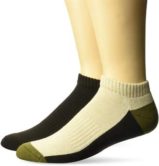 Fruit of the Loom Men's 2 Pair Low Cut Hiker Sock Sockshosiery