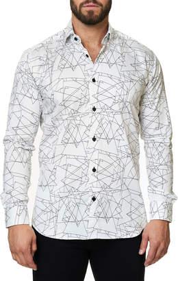 Maceoo Shaped-Fit Luxor Geometric Triangle Sport Shirt