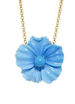 Irene Neuwirth One-Of-A-Kind 79.34 Carat Turquoise Flower Necklace