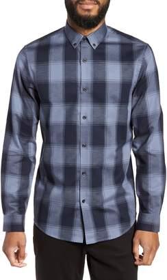 Buffalo David Bitton Calibrate Slim Fit Mini Collar Check Flannel Sport Shirt