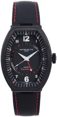 Montres de Luxe Men's EXN 9503 Estremo Titanium and Aluminum Luminous Leather Date Watch