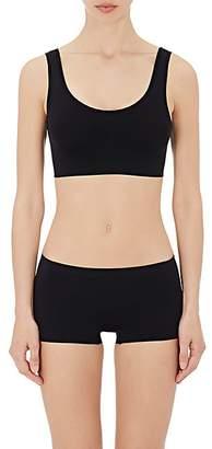 Hanro Women's Touch Feeling Crop Top Sports Bra - Black