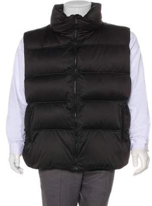 Porsche Design Logo Quilted Down Vest w/ Tags