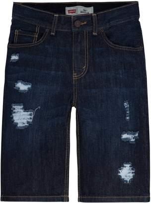 Levi's Levis Boys 4-7x Distressed Dark Denim Shorts